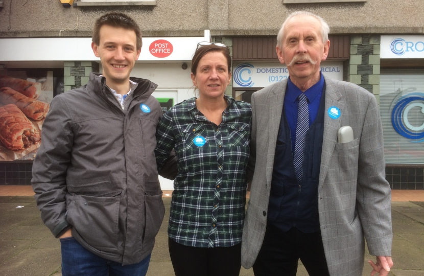 Your three Conservative candidates for Ulverston East: Ben, Sarah and Norman.