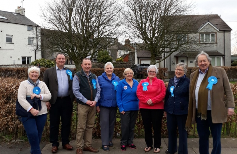 Local conservatives campaigning in April 2018