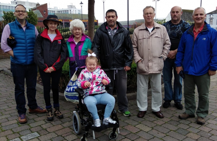 The walkers met at Barrow Town Hall