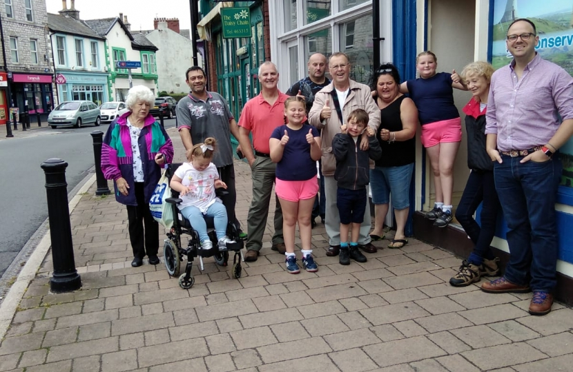 Local members walked from Barrow to Dalton and raised £515 for charity