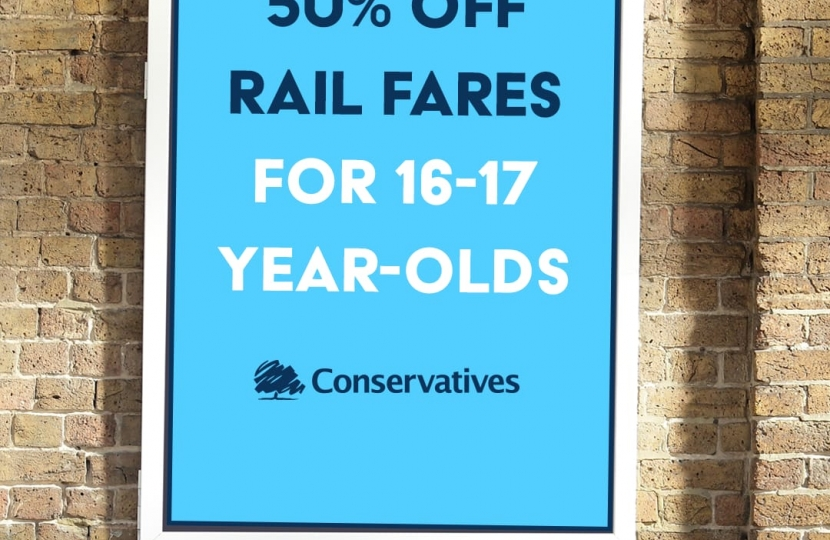 Cheaper rail fares for our young people