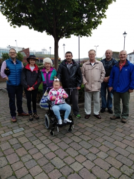 Debbie joins members on a sponsored walk for chairty